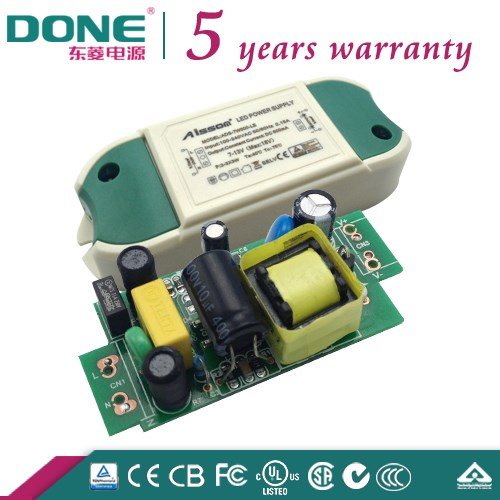 DC6-12V High Quality Electrolysis 7W600ma Non Waterproof Open Frame Led Power supply