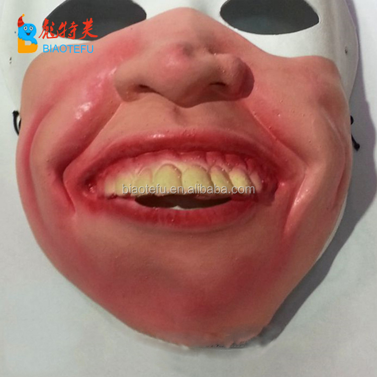 hotsale funny freaky cosplay latex mask for party