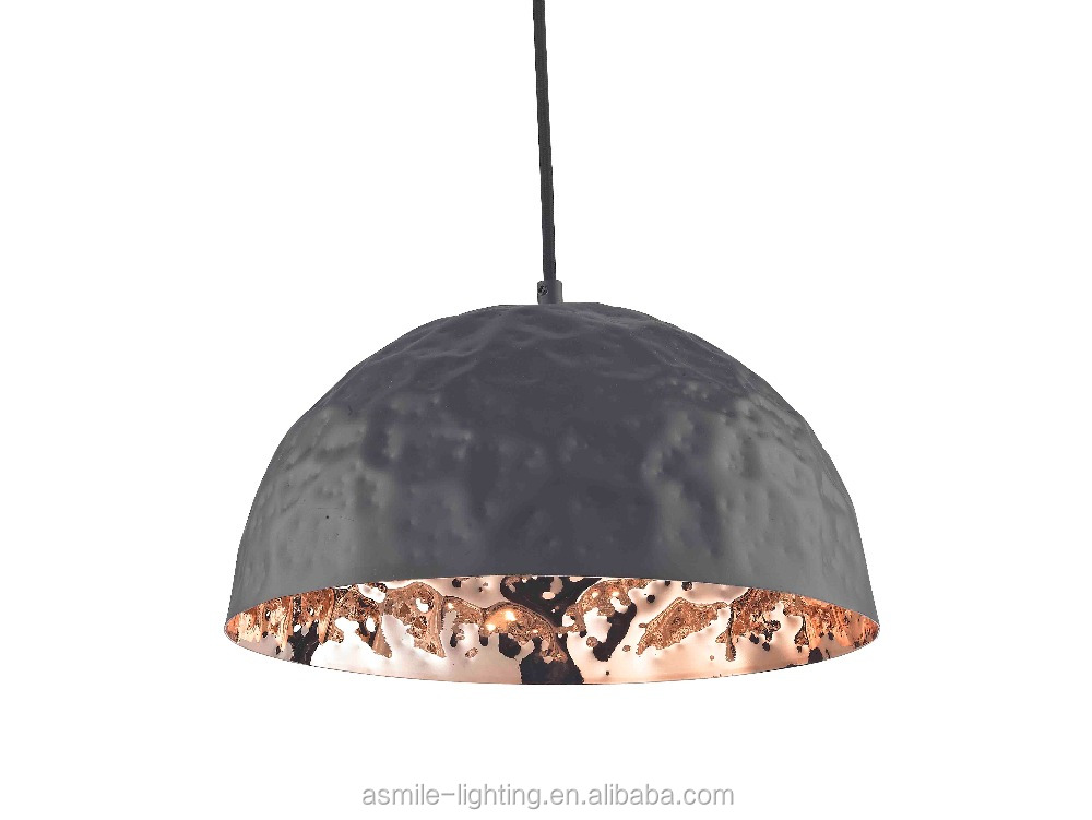 E27 40w Classic Black Outside Copper Inside Ceiling Light With ...