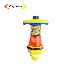 wholesale china kids toys battery operate light up spinning top with best price