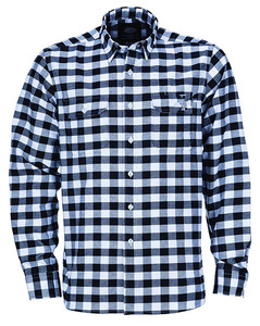 cotton fashion mens uniforms work custom plaid shirt work wear uniform with long sleeve tshirt