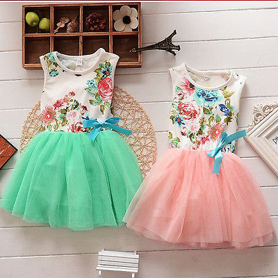 Princess Girls Baby Kids Clothes Ball Gown Party font b Dresses b font Bow Cute Summer