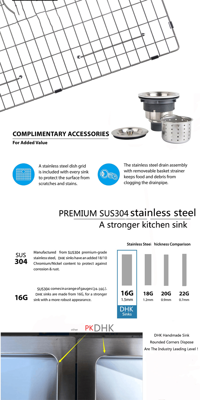 Foshan Shunde Outdoor Wholesale SUS 304 Stainless Steel Kitchen Sink