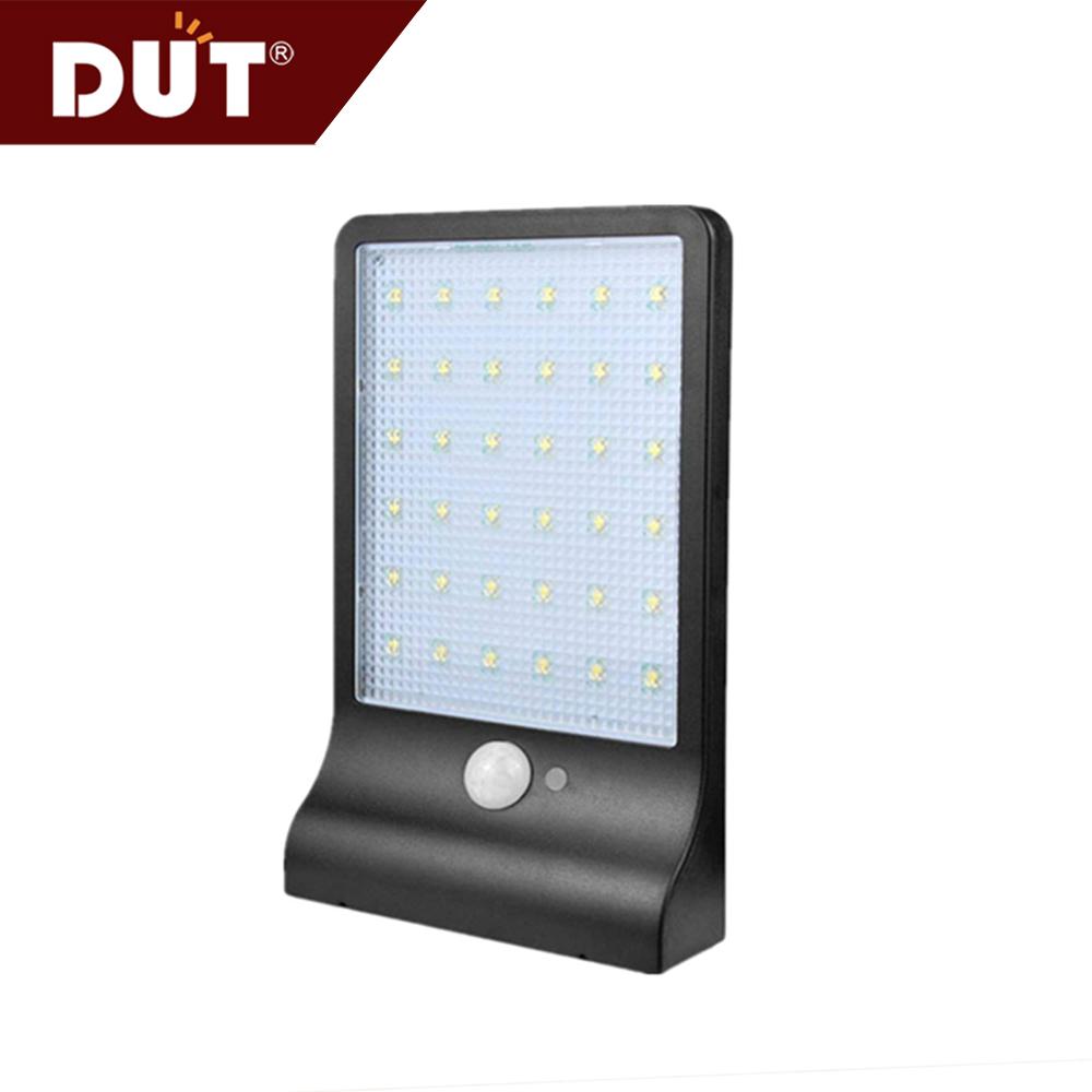 공장 가격 작은 PC ABS 램프 방수 야외 정원 마운트 표면 5.5V 5w 36 LED 태양 벽 조명