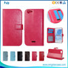Book Style Leather Stand Flip Cover Case For Wiko Pulp 4G With Card Slots