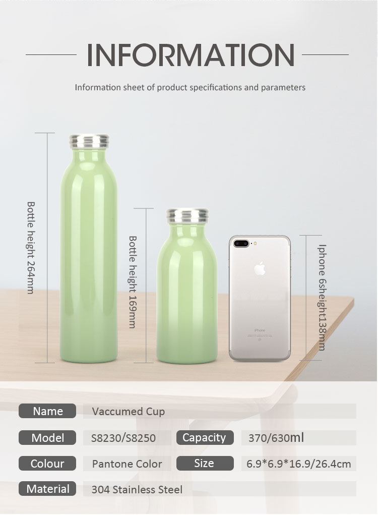 New Arrival  Double Wall Custom Logo Insulated Stainless Steel  Drinking water botte  Wholesale