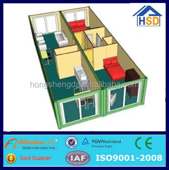 Fertige Mobile Wohncontainer Haus 2 Schlafzimmer Haus Plan - Buy 2 ...
