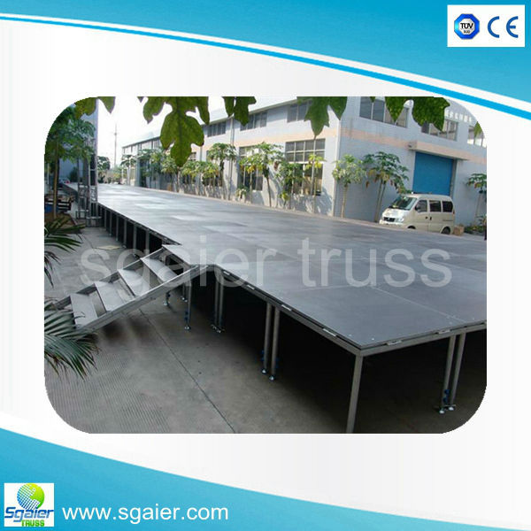High quality corrosion protection plate type aluminum portable dance stage platform