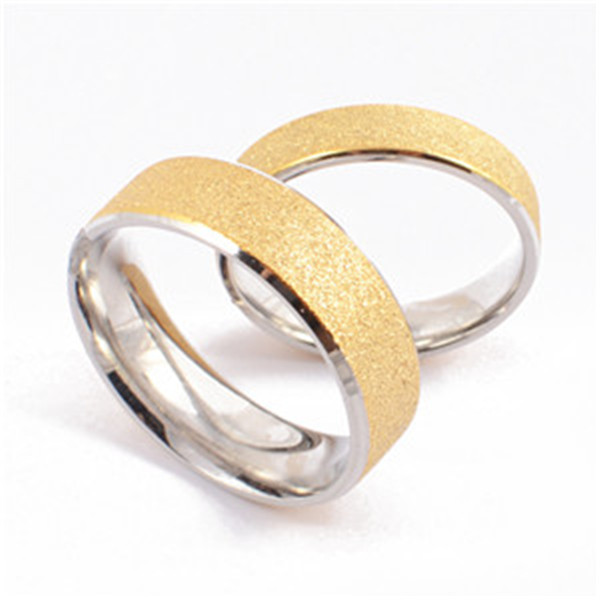 Yiwu Aceon Stainless Steel Gold Sandblast Comfort Fit jewelry made in israel