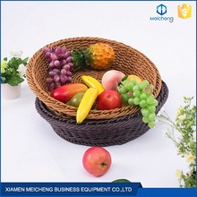 Supermarket Fruit And Vegetable Rattan Hand Woven Baskets