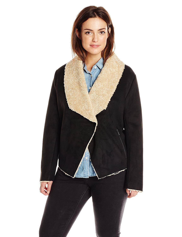 3eb72ed4519f9 Bernardo Women s Plus-Size Plus-Size Faux-Shearling Bonded Suede Fashion  Jacket