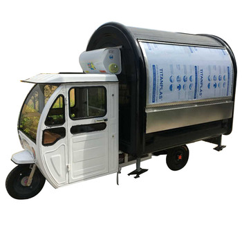 new electric power mobile street kiosk for fast food selling