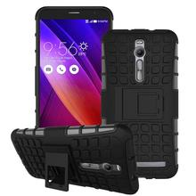 For ASUS zenfone 2 Kickstand Case Heavy Duty Armor Shockproof Hybird Hard Soft Silicon Rugged Rubber Cover ZE551ML Case 5.5 inch
