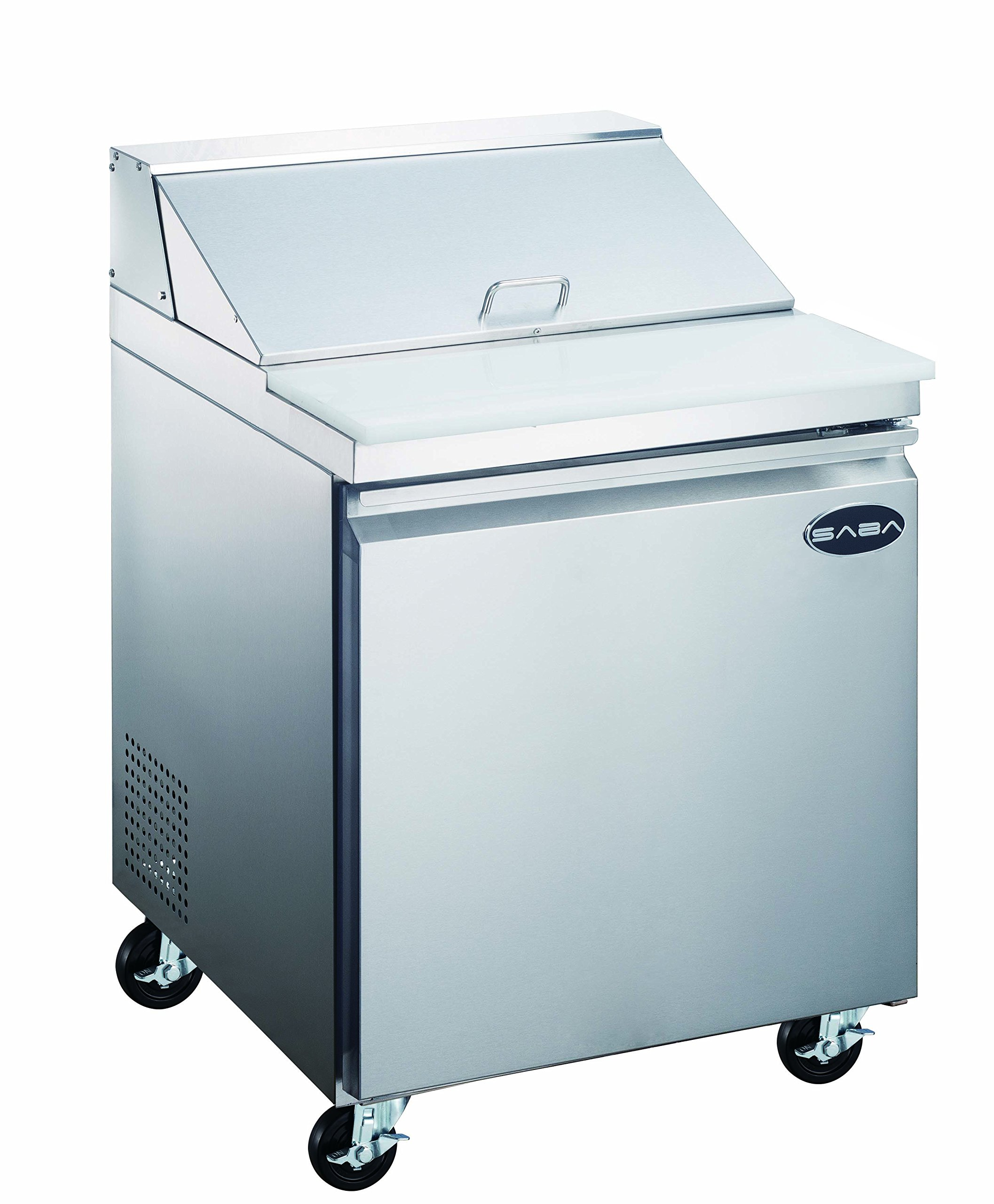 "SABA 27"" Commercial Sandwich Salad Prep Table Refrigerator Cooler"