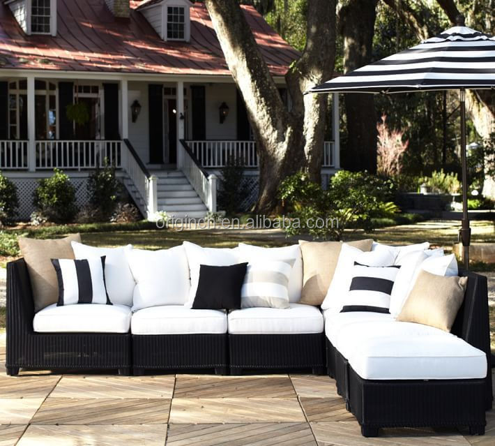 Hot Sale Palmetto Style Rattan Sectional Armless Chair