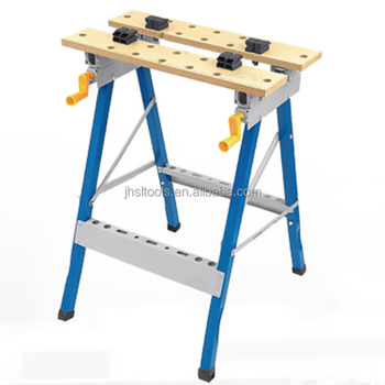 Awe Inspiring New Metal Working Bench Mdf Board Foldable Work Bench And Vice Portable Sawhorse With Quick Clamp 220Lb 0 90 Degree Flip Angle Buy Multi Purpose Lamtechconsult Wood Chair Design Ideas Lamtechconsultcom