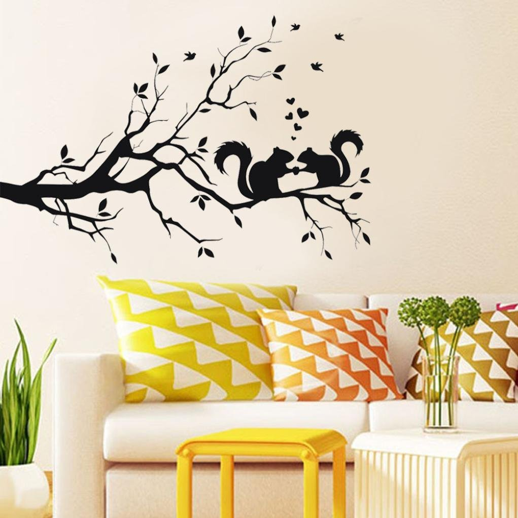 Vinyl Wall Stickers Long Tree Branch Pattern Home Decor Art Mural Posters Stickers Removable Kids Wall Stickers