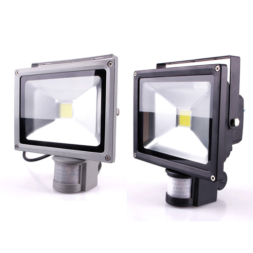 12v ac dc 20w pir led flood light motion sensor warm white floodlight in floodlights from lights. Black Bedroom Furniture Sets. Home Design Ideas