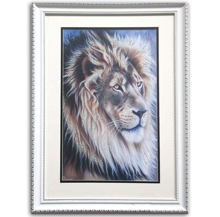 Moderne Tier Wand Kunst Lion Bild Druck auf Leinwand Gestreckt und ...