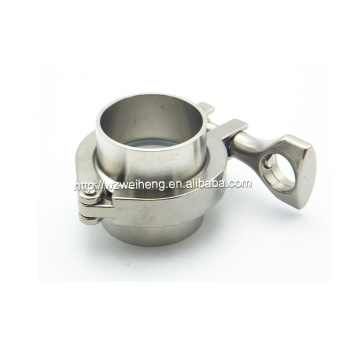 Stainless Steel 304 Sanitary Ferrule clampTri Clamp for pipe fitting with two flanges kit