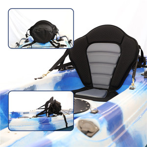 Universal Fit Full Canoe High Backrest Kayak Seat with Detachable Storage Bag