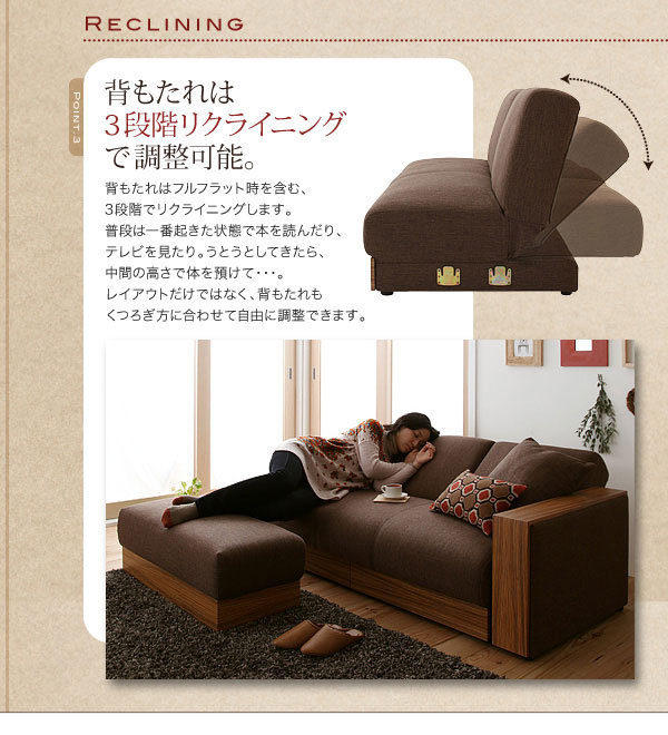 Modern Fabric Sofa Bed Wooden Designs With Storage And Coffee Table