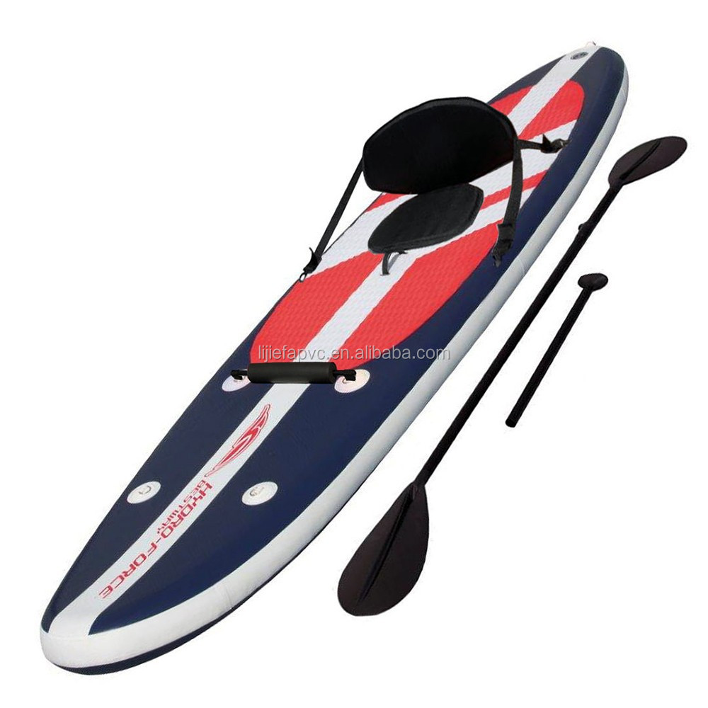 customized inflatable stand up paddle board with seat,high quality inflatable surfboard