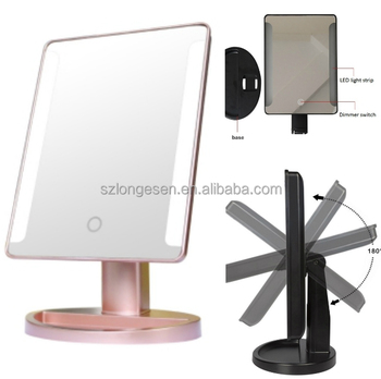 Small Lighted Makeup Mirror.Led Lighted Makeup Mirror Small Round 10x Magnifying Mirror 180 Degree Rotation Standing On Table Buy Vanity Mirror With Lights Makeup Led Lighted