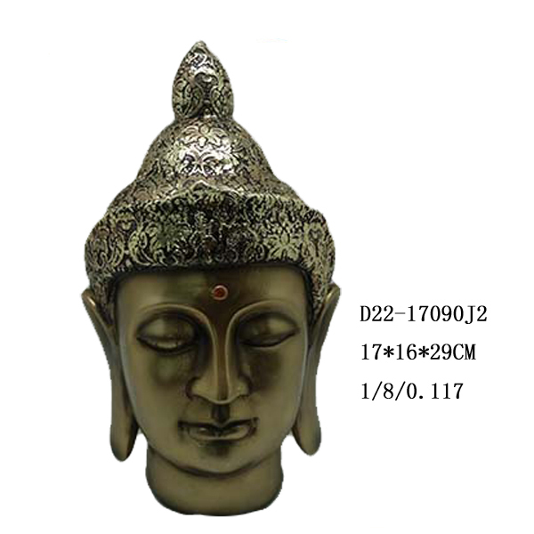 Antique resin buddha head for sale