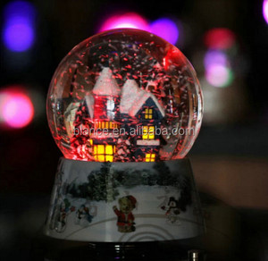 led light snow globe with led water globe