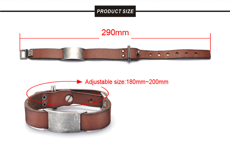 Wholesale European Real Italian Fashion Leather Bracelet Men