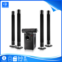 5.1 CH Hifi home theatre surround sound speaker stereo system tower speaker with bluetooth FM radio party office use HT-008