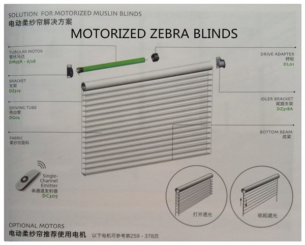 Plastic Metal Components For Roller Zebra Blinds Buy