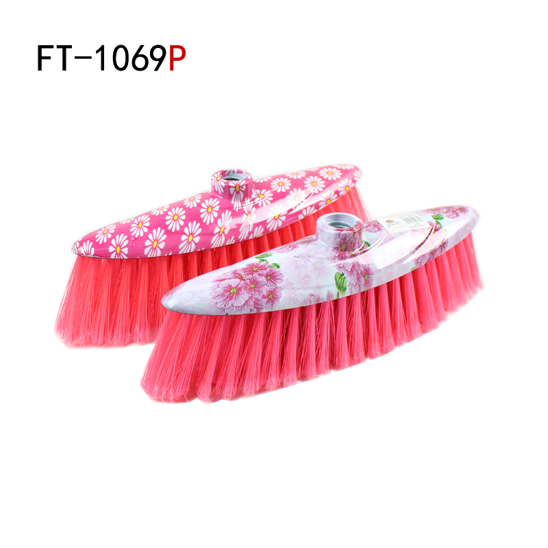 Floor cleaning supplies soft wool plastic broom head flower broom broom parts