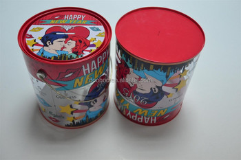 customized clear PVC Cylinder Boxes with Lid