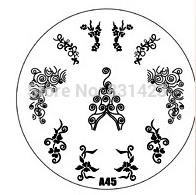 2015 new A Series A45 Nail Art Polish DIY Stamping Plates Image Templates Nail Stamp Stencil