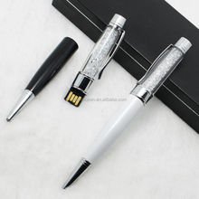 newest fashion metal boll pen promotional item boll point metal usb pen/pen shaped usb