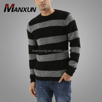 Mens Shrug Latest Sweaters Design Wide Striped Knitted Thick Men Casual  Sweater Winter 2017 , Buy Cheap Pullover Sweater Men,Winter Plain Pullover