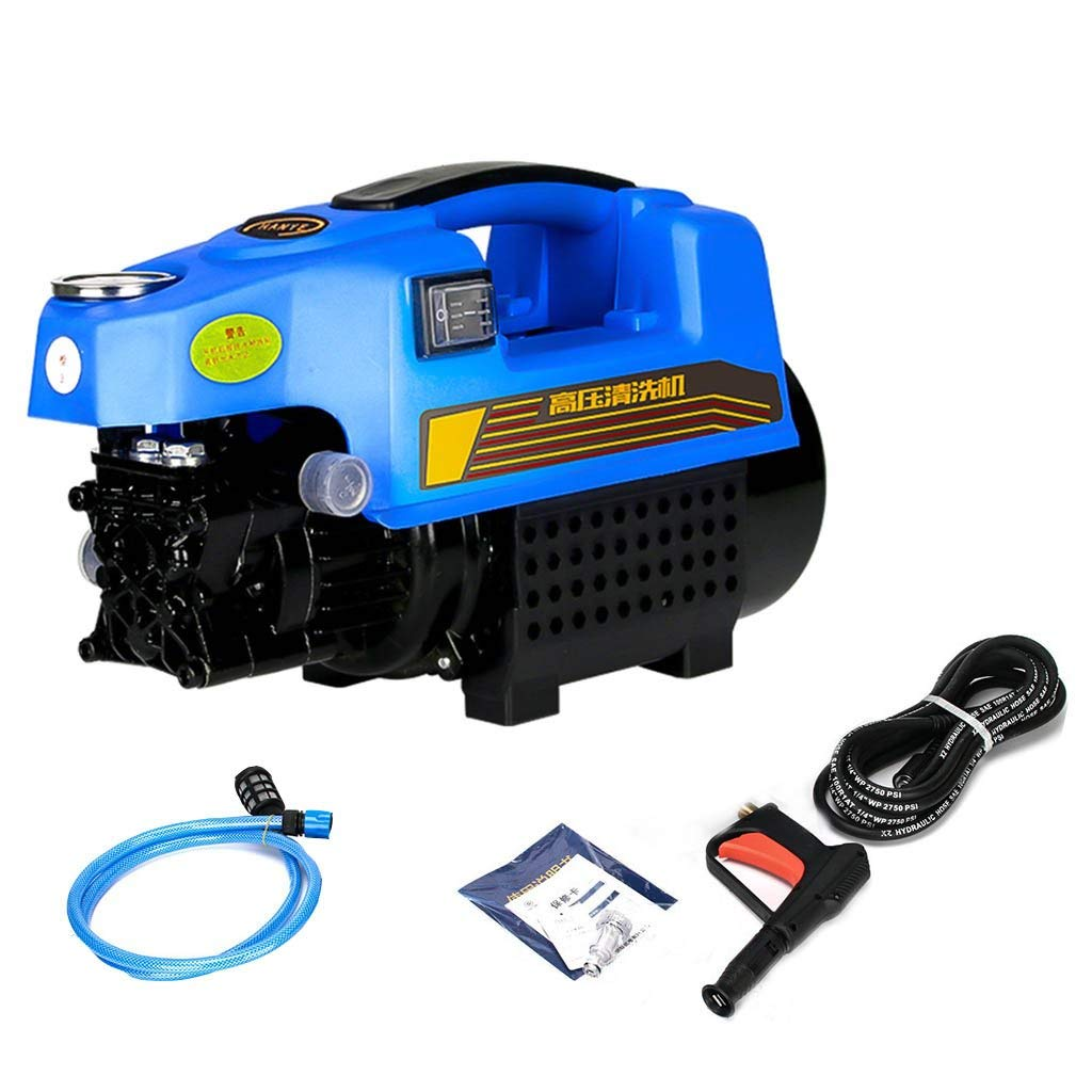 Roscloud@ High Pressure Car Wash Machine-220V Home Car Wash Pump Full Copper Motor Washer Automatic Brush Car Pump Gun Car Wash Watering And Cleaning Pet Lawn Etc. (Color : Blue, Size : 15M)