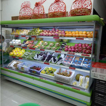 Hot Sale Supermarket Fruit Display Fridgevegetable Refrigerated