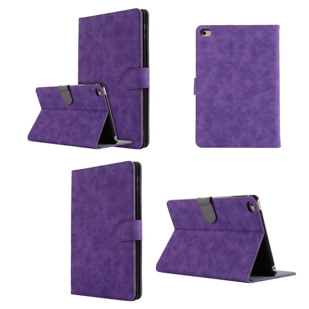 Lækker Tablet Case For Ipad Mini 4 Retro Leather Stand Wallet Tablet WP-74