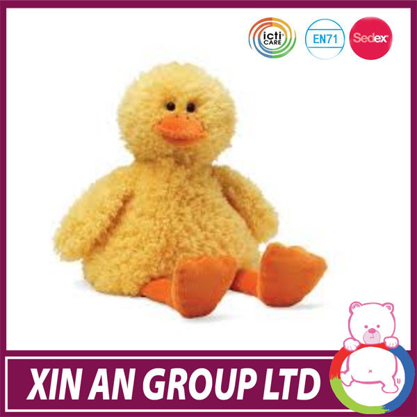 customed cuddly plush yellow duck toy with new design