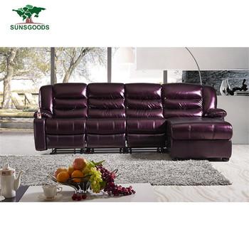 Factory Supply Top Grain Italian Leather Sofa Purple Leather Recliner Sofa  Sets - Buy Purple Leather Recliner Sofa Sets,Top Grain Italian Leather ...