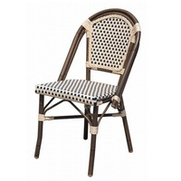 Outdoor stackable plastic PE rattan bamboo looks wedding chair furniture for RH309