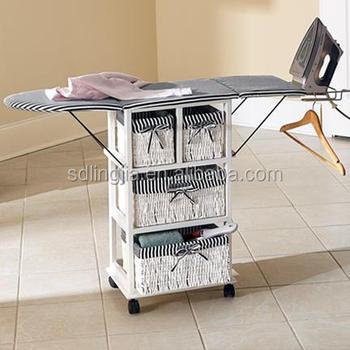 Wood Furniture Italy Folding Ironing Board Storage Cabinet Boards