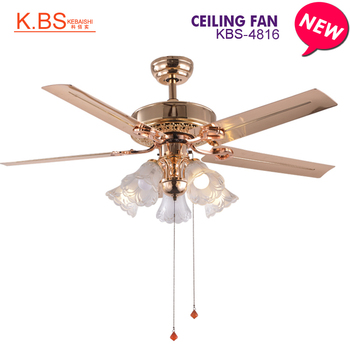 Living Room Fancy Chandelier Rose Gold Fan Lamp Ceiling With Light