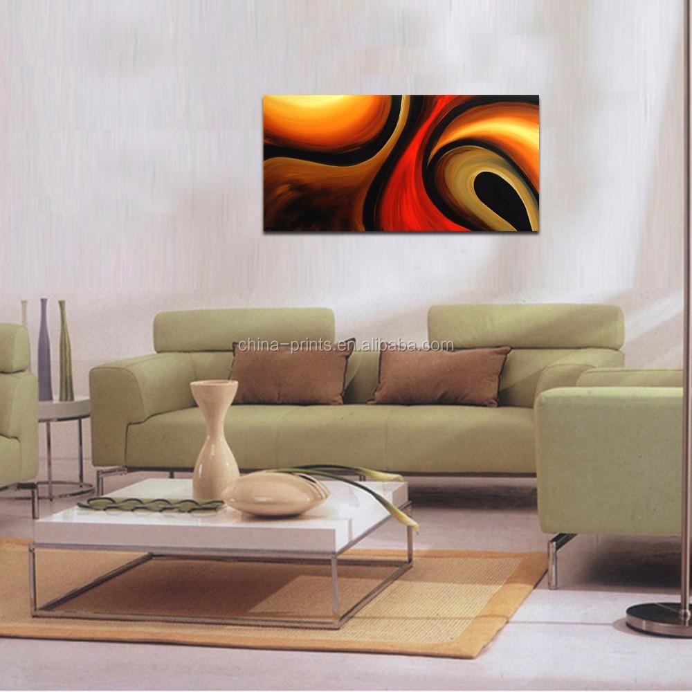Hedendaagse handgemaakte olieverf/moderne canvas muur/woonkamer ...