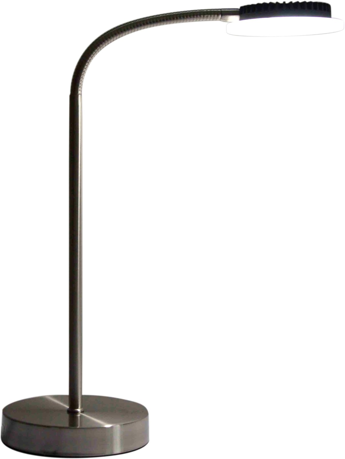 PureOptics LED Desk Lamp with 2 USB Ports, 6600K Color Temperature, Adjustable Gooseneck (VLED625D)