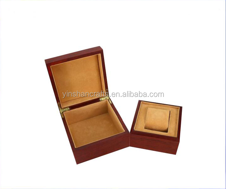 Prezzo di fabbrica custom black singolo in legno watch box made in China