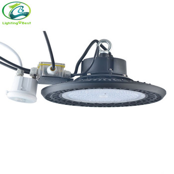 100W 150W 200W UFO LED High Bay Light Fixture with Motion Detector and Daylight Sensor